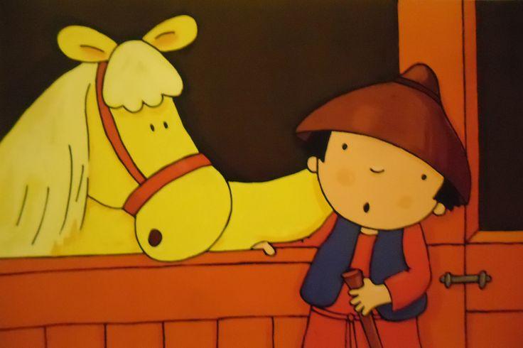 Wat verder stond een paard op stal. Misschien is mijn schaap hier, dacht Elias. In de paardenstal zal het wel lekker warm zijn. Maar nee, ook hier was het schaap niet.