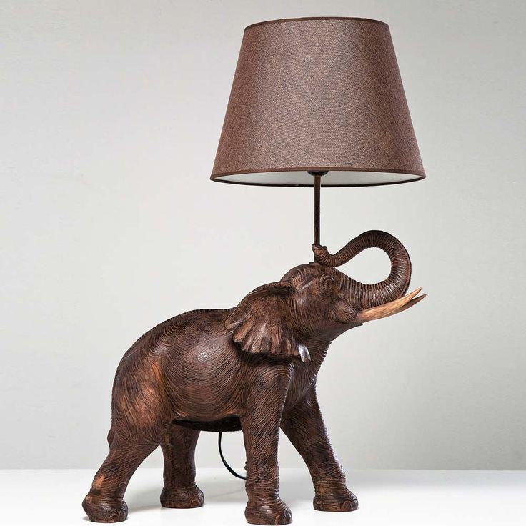 Elephant Wall Decal, Elephant Pillow And Table Lamps