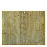Professional Feather Edge Overlap Fence Panel (W)1.83m (H)1.5m, Pack of 5 | Departments | DIY at B&Q