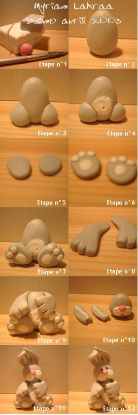 this is a fimo bunny tutorial but would be equally as useful for working with sugarpaste