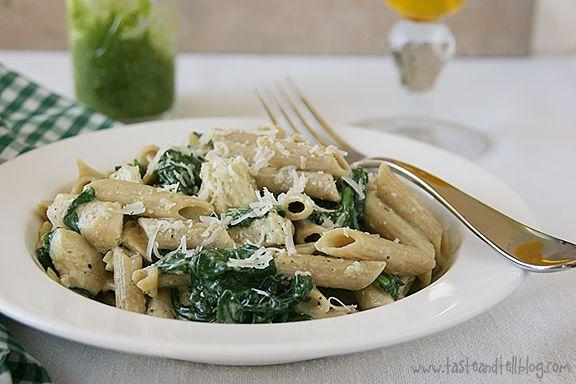 Chicken Florentine Pesto Pasta Recipe — Dishmaps