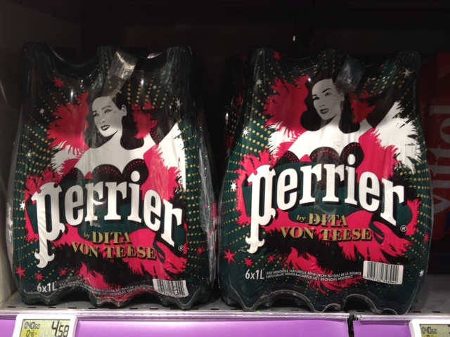 Dita von Teese joins my Perrier. Dita with me at Lido beach then...