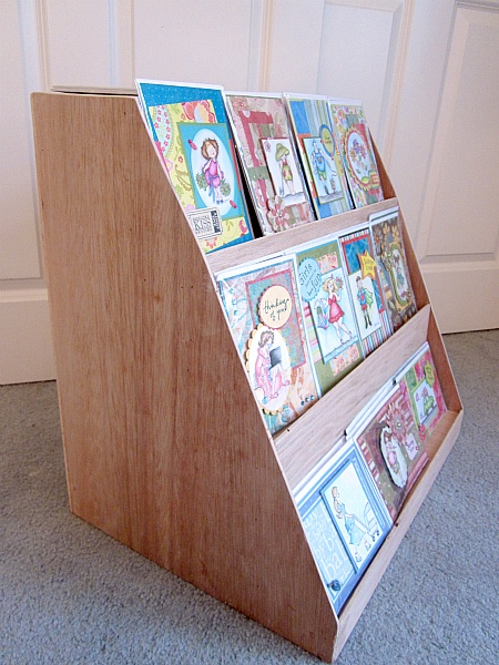 35 best card display images on pinterest craft booth displays handmade greeting card display made of solid oak display has three shelves which each hold m4hsunfo