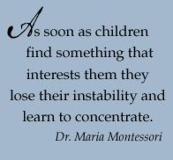 Interest leads naturally to concentration. #Parenting #Education