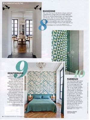 Lots of vertical space in Where I'd Stay's St Sulpice flat, as featured in Germany's Schøner Wohnen Magazine (October 2015)
