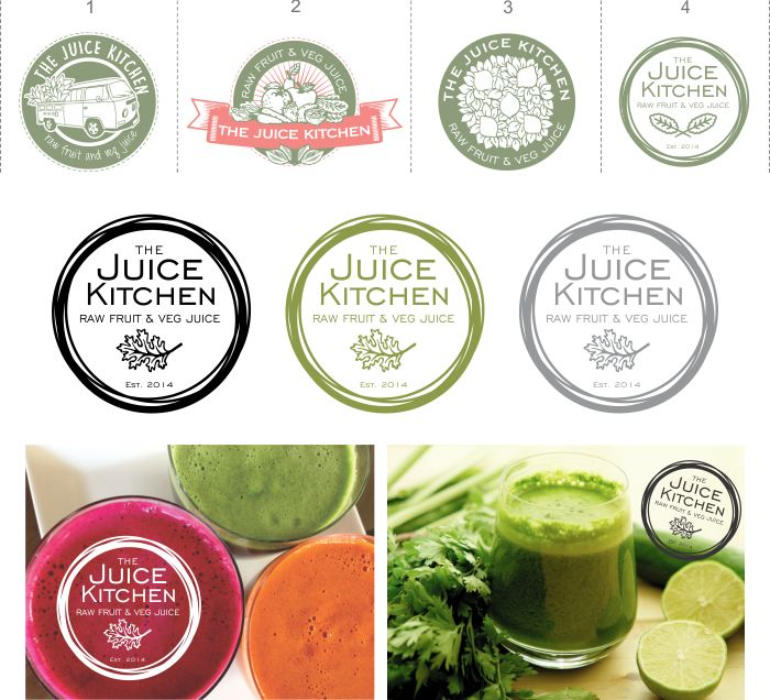 Cosmic Creations: The Juice Kitchen logo  #logodesign #graphicdesign #juicekitchen #healthyliving #vibrant