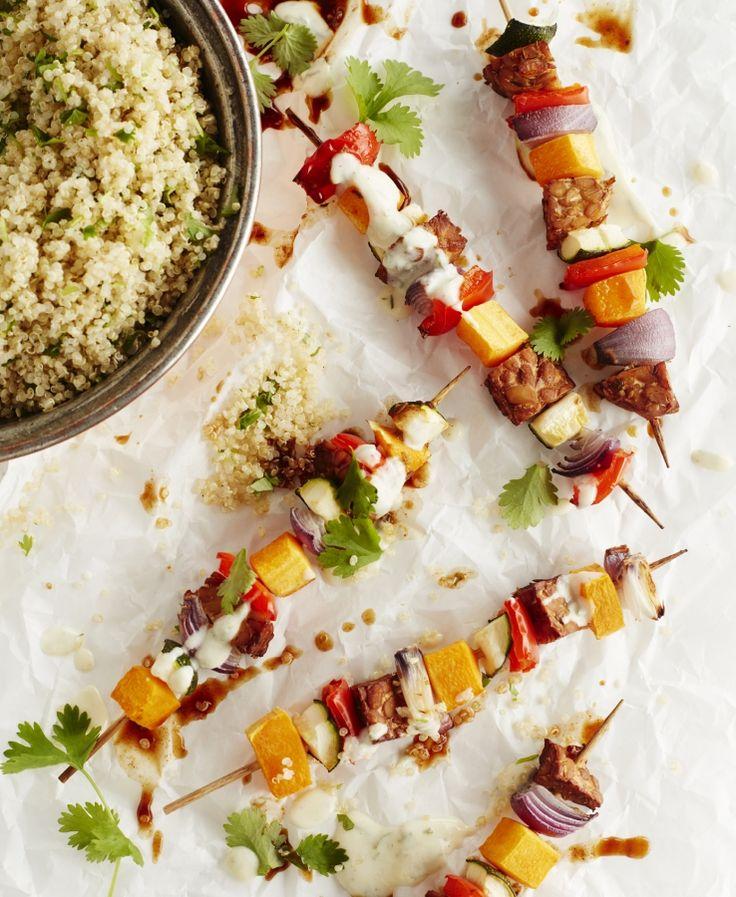 Groentebrochettes met Mexicaanse quinoa | Easy Vegan met Julie