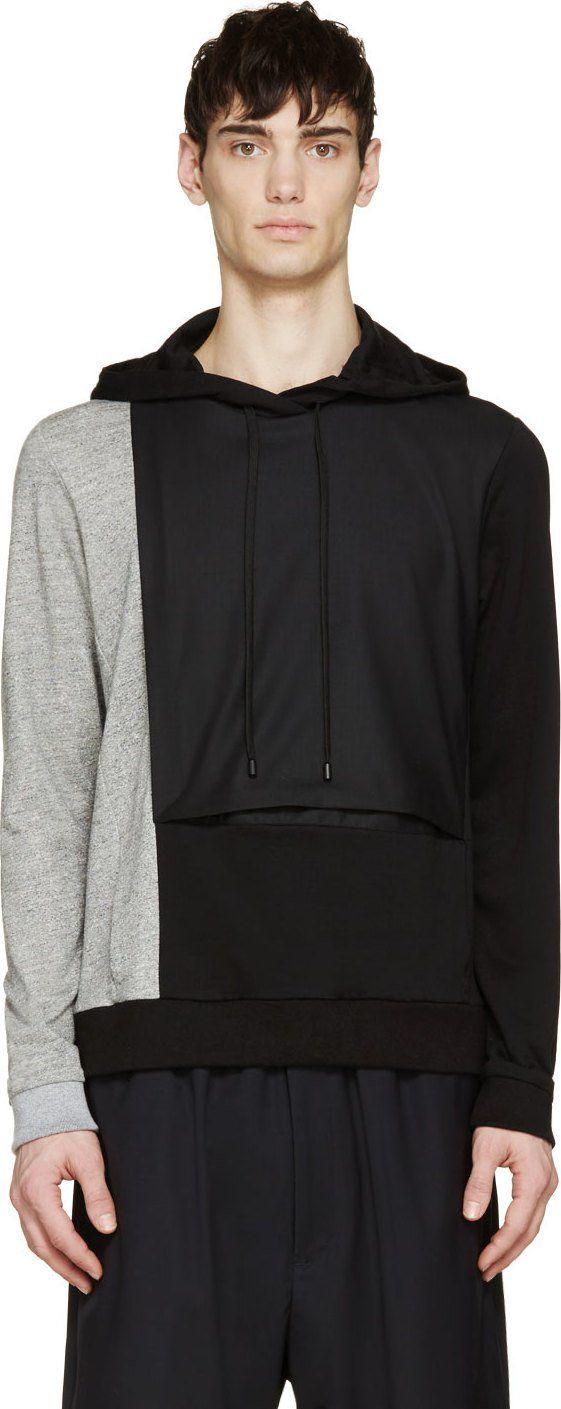 Public School Black & Grey Bellowed Hoodie