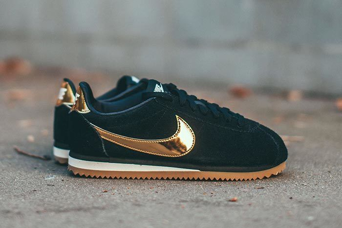 Black and Gold Hit the Nike Cortez