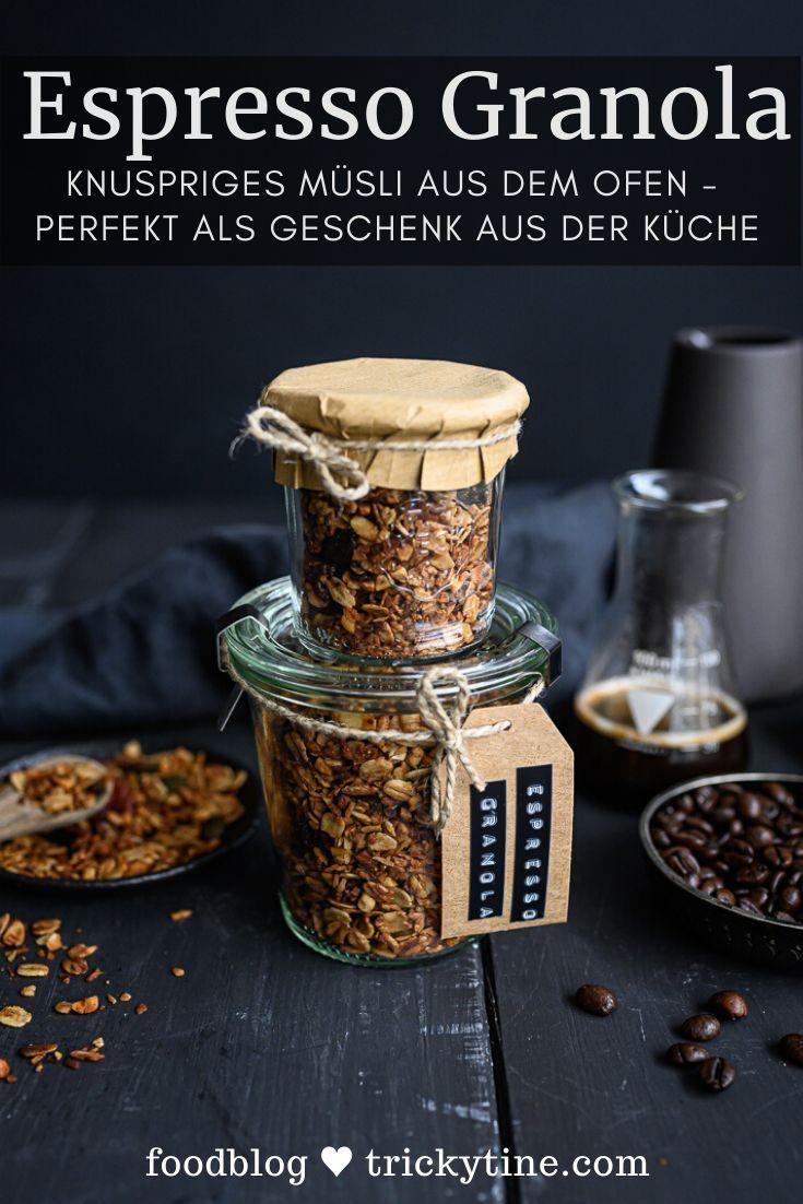 Rezept für Espresso Granola – knuspriges Müsli aus dem Ofen