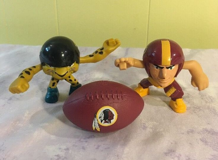Rush Zone NFL Football Toys Lot of 3 McDonalds HAPPY MEAL Big Head