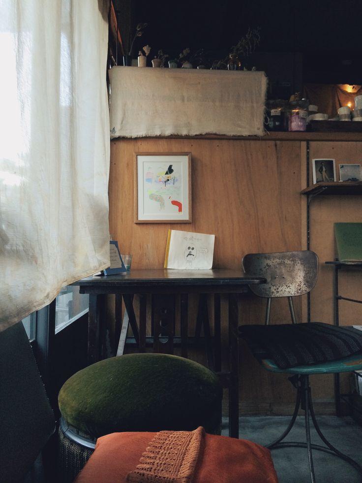 My favorite cafe 'yugue' in Kyoto, Japan. Open 'sometimes'. lol #cafe #coffee #bagel #kyoto