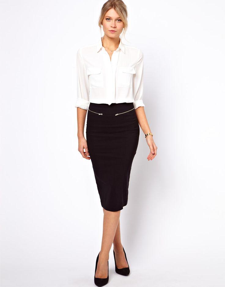 vestido negro y blanco