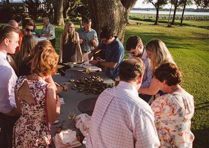 A Lowcountry Oyster Roast at The River House is a perfect welcome for friends…