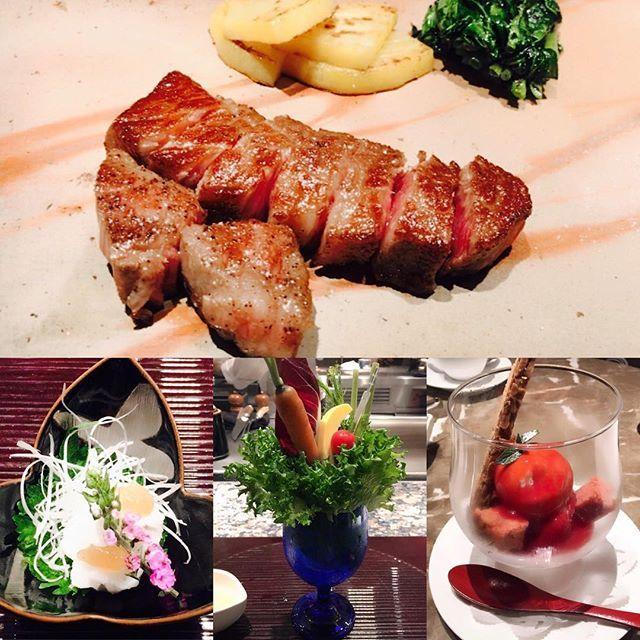 銀座の鉄板焼き屋さん、おのでらに行って来ました✨ * おのでらはお寿司や日本料理、天ぷら屋さんも展開しています😊 * まず前菜のサラダにびっくり💓 グラスに盛られてて、すごい可愛い😻✨ * お肉も口の中でとろけました✨✨ * デザートは一瞬トマトに見えますが、いちごのパフェです🍓✨ * ごちそうさまでした😘✨ * 🏠銀座 鉄板焼きおのでら * #グルメ#フード#ランチ#和食#鉄板焼き#肉#サラダ#美味しい#ごちそうさまでした#東京#銀座#おのでら #lunch#gourmet#food#foodstagram#beef#japanesefood#teppanyak#salad#i#yummy#delicious#happy#japan#tokyo#ginza#onodera