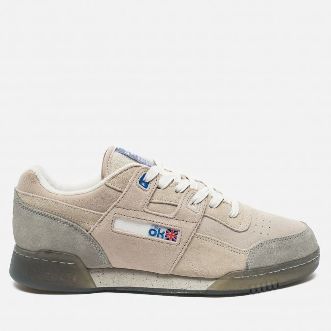 Мужские кроссовки Reebok x Garbstore Workout Low Plus Off White/Cleat Grey AR2660