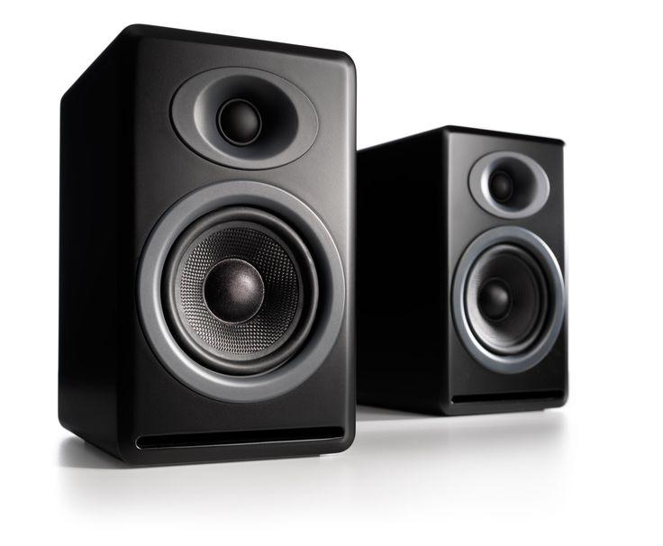 Audioengine P4 Passive Bookshelf Speakers, Black