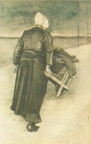Scheveningen Woman with Wheeelbarrow - Vincent van Gogh