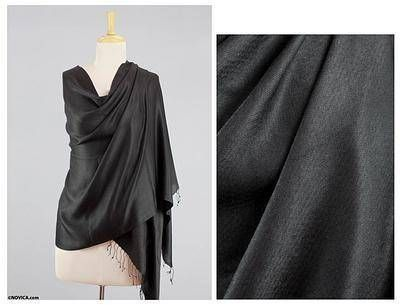 Luxurious Black Indian Silk Shawl Wrap. Shawl fashions. I'm an affiliate marketer. When you click on a link or buy from the retailer, I earn a commission.