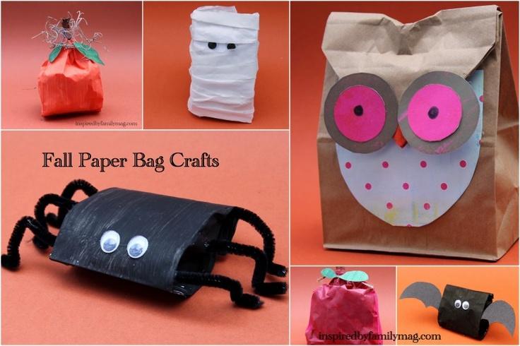 Fall Paper bag crafts or treat sacks