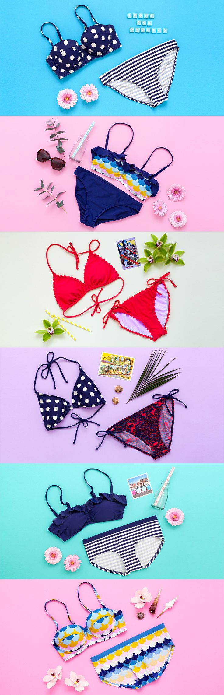 Banish that familiar shopping-for-beachwear phobia with our mix and match swimwear, cut and constructed to fit and flatter. Retro, sporty, sexy… from bikini tops and bottoms to swimsuits and flirty skirts, our range has more shapes and colours than ever. To help inspire you, we asked a group of editors, bloggers and Boden staff to pick their favourite combinations.