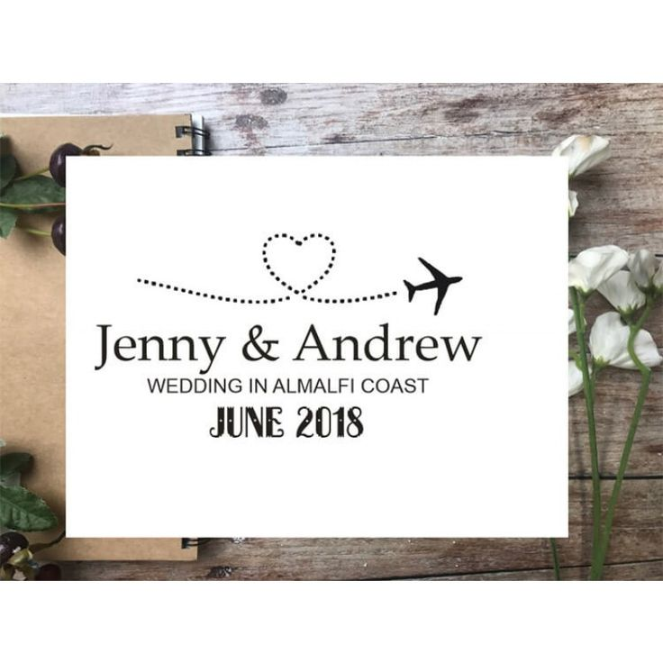 Custom Stamps & Stationery Aeroplane Married abroad rubber stamp Online UK Store