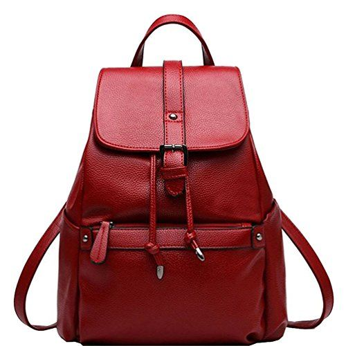 New Trending Backpacks: LIZHIGU Women Leather Backpack Purse Durable School Travel Bag For Girl Ladies Wine Red 114. LIZHIGU Women Leather Backpack Purse Durable School Travel Bag For Girl Ladies Wine Red 114  Special Offer: $31.99  144 Reviews This backpack is simple,super cool and fashion.It offer plenty of storage for your umbrella,cosmetic,wallet,phone etc.The backpack also zip up when...