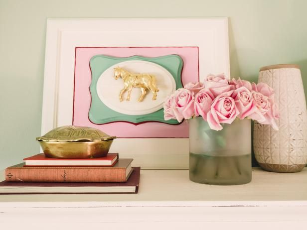 HGTV shows you how to use gold leaf for 5 different DIY projects, like gold leaf vases and a gold leaf bar tray.