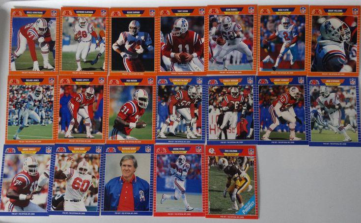 1989 Pro Set Series 1 & 2 New England Patriots Team Set 19 Football Cards no 503 #NewEnglandPatriots