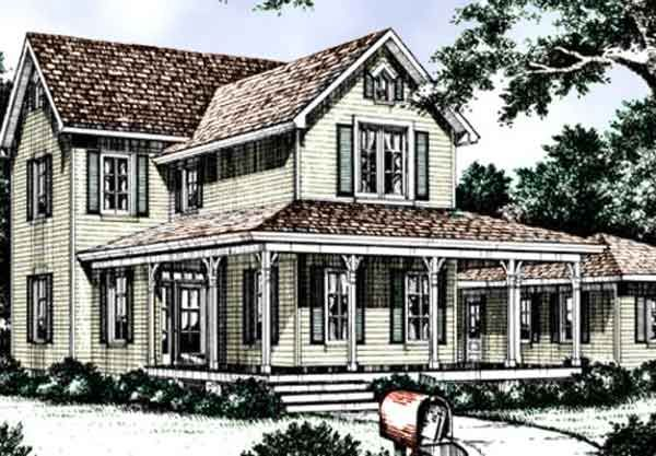 Chinaberry home with wraparound porch for the home for Lifestyle house plans