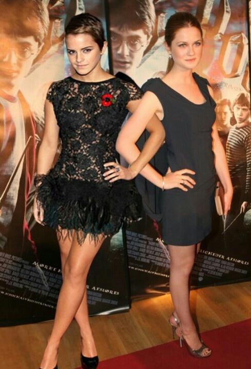 Emma Watson and bonnie wright