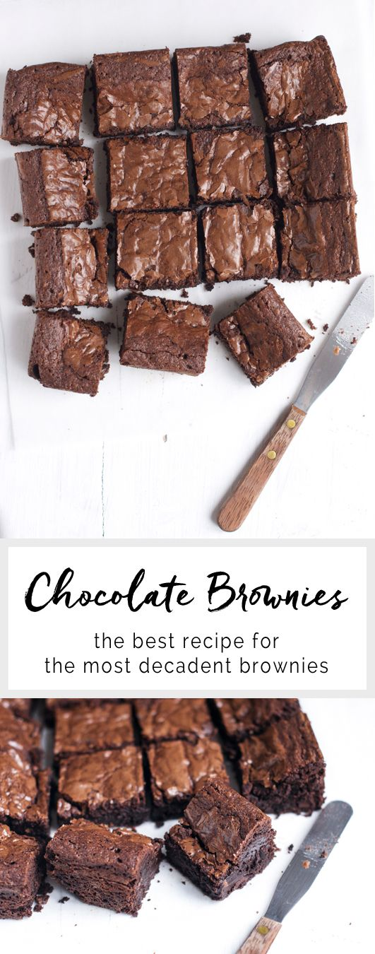 Very Good Chocolate Brownies. Adapted from Nigel Slater | eatlittlebird.com