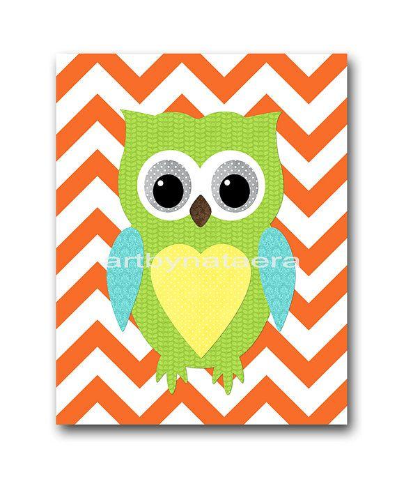 Owl Decor Owl Nursery Baby Nursery Decor Baby Boy by artbynataera