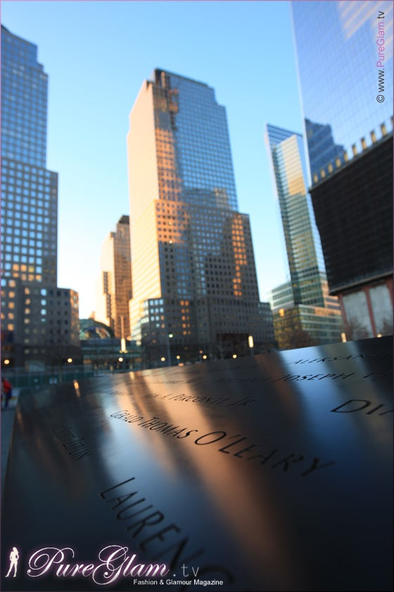 Beautiful 9/11 memorial - New York City with new World Trade Center - amazing large reflection pools, NYC, Manhattan, WTC, remember