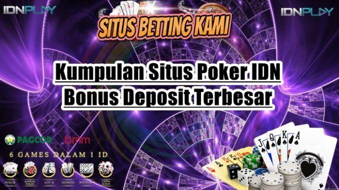 Kumpulan Situs Poker Online Bonus Deposit Terbesar 2020 Poker Permainan Kartu Uang