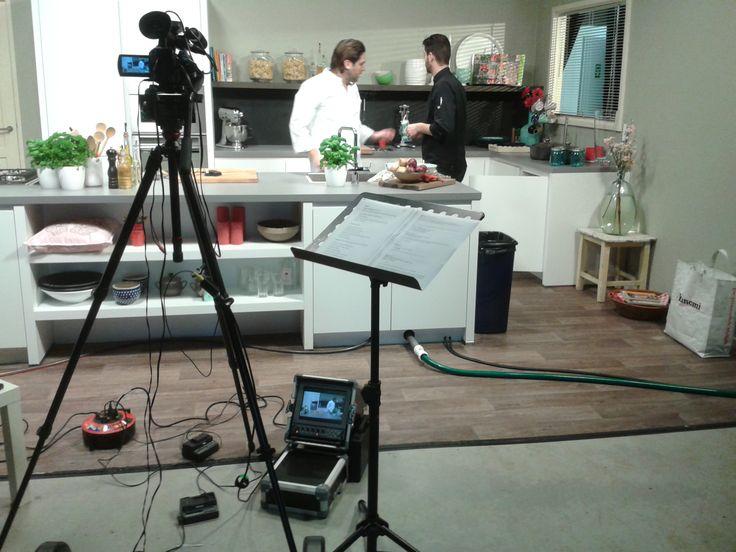 #bertolli opnames in onze #keukenstudio met Rob van den Broek, van Taste and More