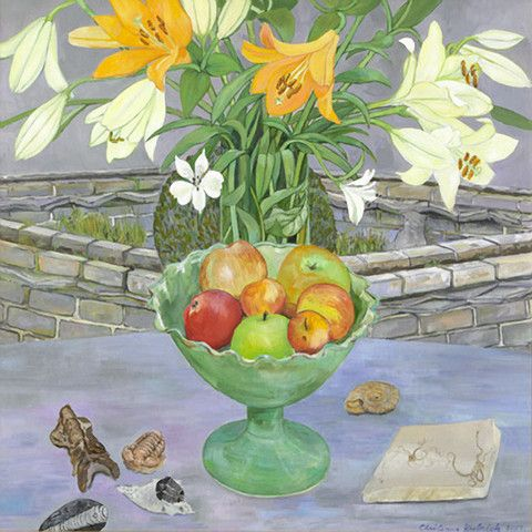 Lillies Apples and Fossils by Christiane Kubrick