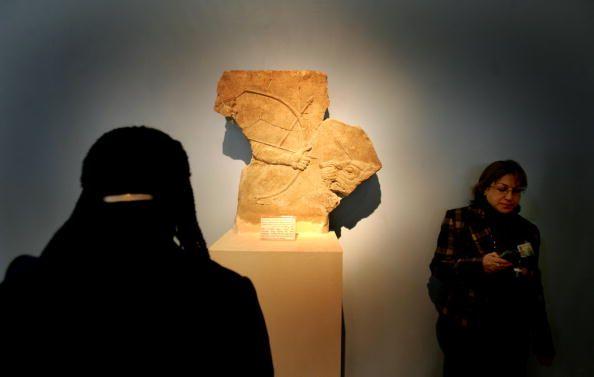 Une sculpture dans le musee national de Chad