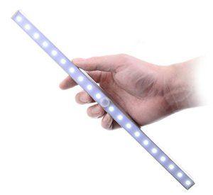Lampe LED Détecteur de Mouvement, Kitclan Veilleuse placard automatique, Capteur D'infrarouge sans fil et réglable, Très brillant pour…