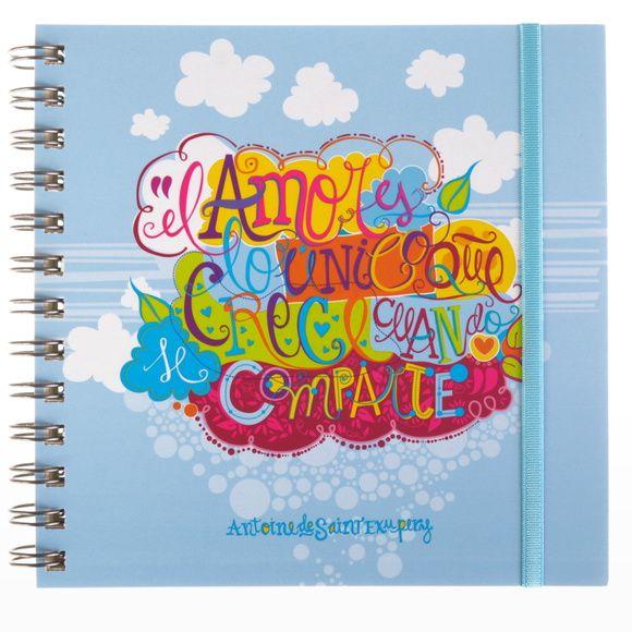 Cuaderno frase original - Saint Exupery