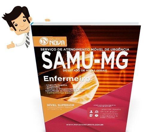 O conteúdo da Apostila para o concurso SAMU MG 2015 - Enfermeiro contempla:  - Língua Portuguesa; - Atualidades; - Noções de Procedimentos e Normas do SAMU/Redes de Emergência e SUS; - Conhecimentos Específicos de Enfermagem;  A Apostila para o concurso SAMU MG foi atualizada com base no edital publicado recentemente o que torna o seu conteúdo atual e relevante.