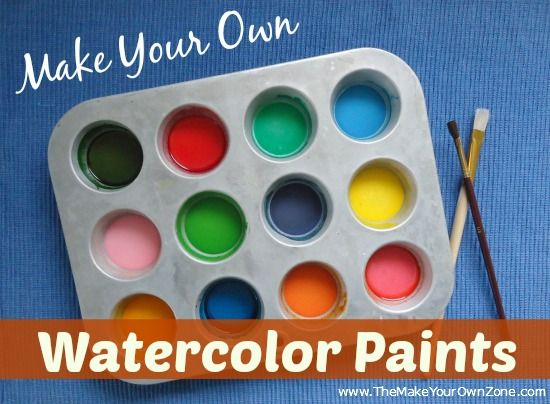 How To Make Homemade Watercolor Paints - Easy to do with ingredients from your kitchen