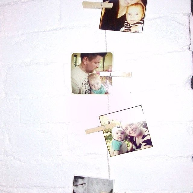 Photos hanging on a line. Instagram by majjanr1.