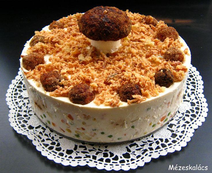 Mézeskalács konyha: Fasírtos franciasaláta torta