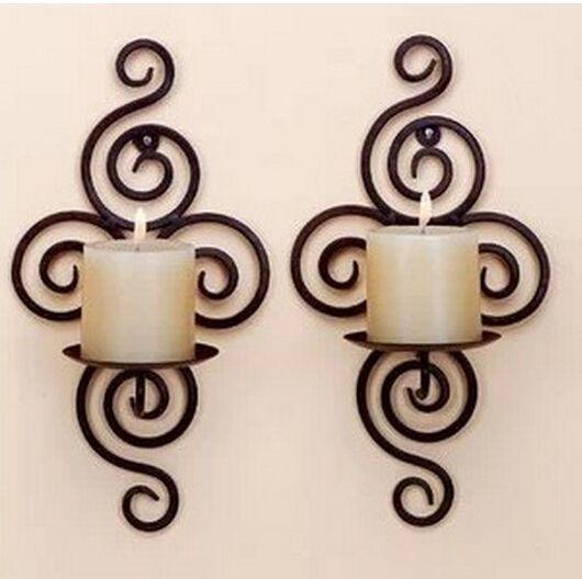 1 PCS de alta qualidade decoração de ferro estilo pastoral parede castiçais de ferro forjado castiçal em Castiçais de Casa & jardim no AliExpress.com | Alibaba Group