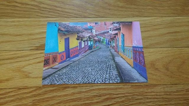 Atlas Coffee Club postcard for October - Colombia!