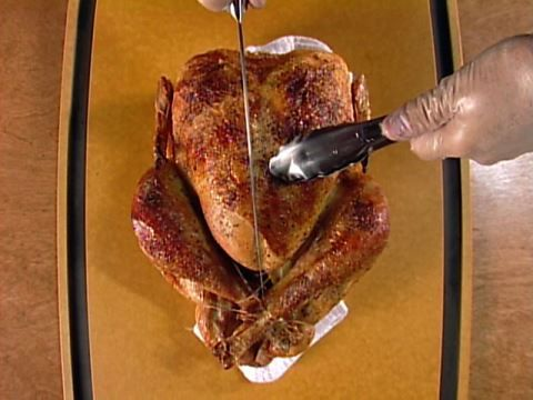 How to Carve a Turkey : Alton Brown teaches the easiest way to carve, or deconstruct, your turkey.