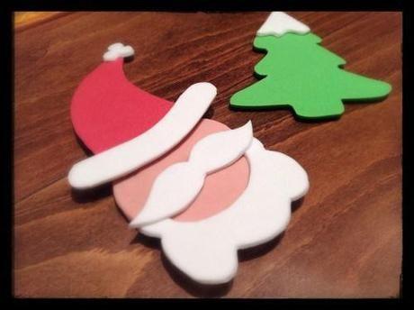 DIY Navidad: Imanes para nevera con goma eva