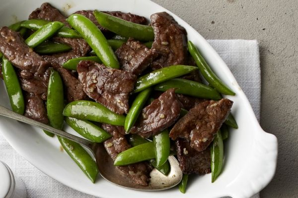 Easy Ginger Beef and Snap Peas - quick and delicious