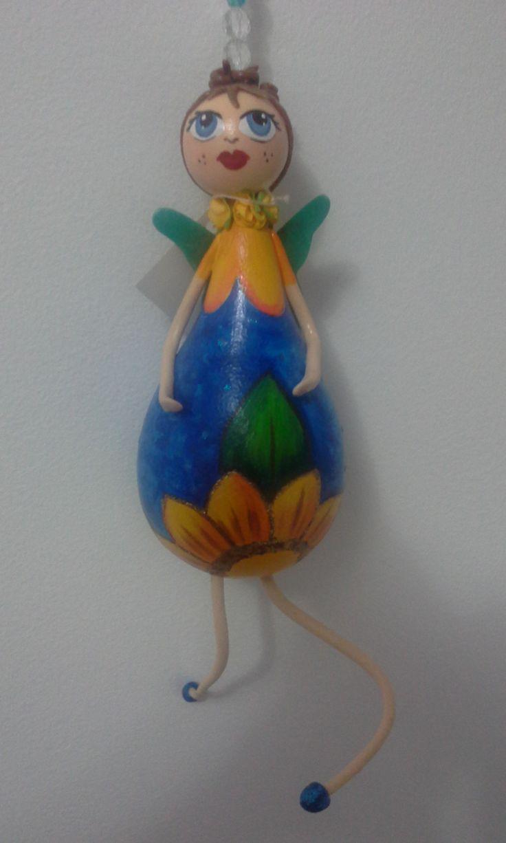 Boneca de cabaça - Poleiro das loucas